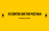 10 CONTOH DAFTAR PUSTAKA